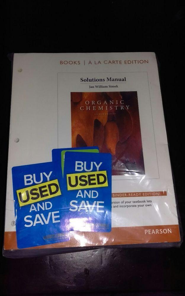 Organic Chemistry Eighth Edition Solution Manual (loose leaf) | Books, Textbooks, Education | eBay!