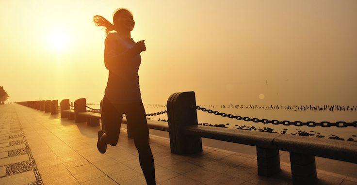 Laufen am Morgen vertreibt Kummer und Sorgen #Volvic #Sonnenaufgang #Morgen #Sport