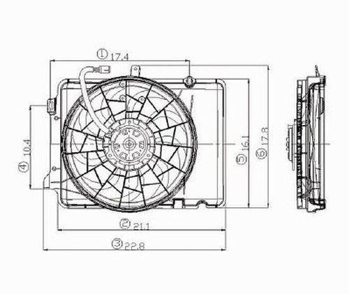 1995 mercury sable radiator fan assembly w  o sho 3 8ltr