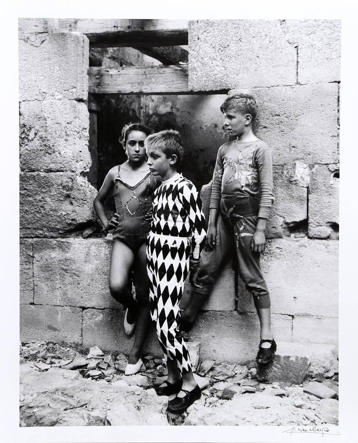 Lucien Clergue - Trio de Saltimbanques, Arles 1955   1stdibs.com