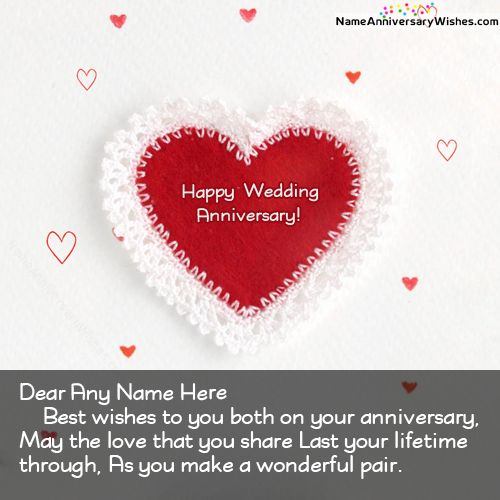 Happy Anniversary Wishes For Friends With Name