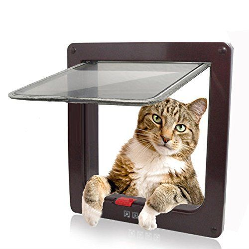 """Namsan 4 Way Cats Puppy Doggie Small Dog Glass Door Pet Screen Door Protector -Brown (6.3"""" X 6.3"""" Opening) >>> You can get additional details at the image link."""