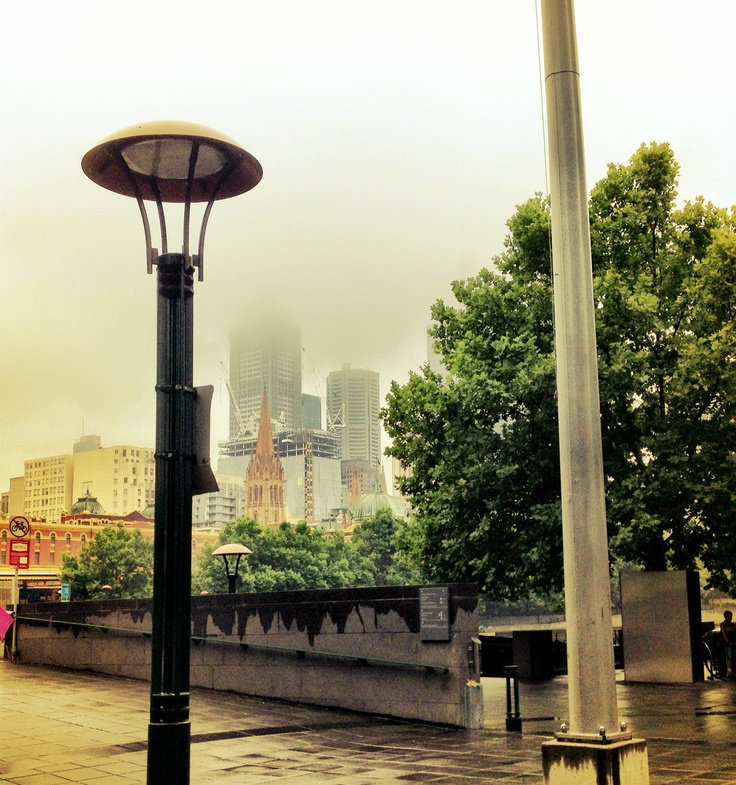 Foggy December in Southbank
