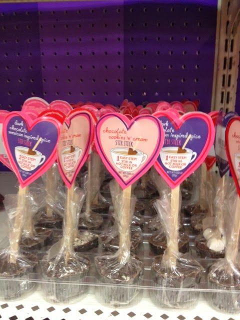 Valentine's Hot Chocolate on a stick DIY