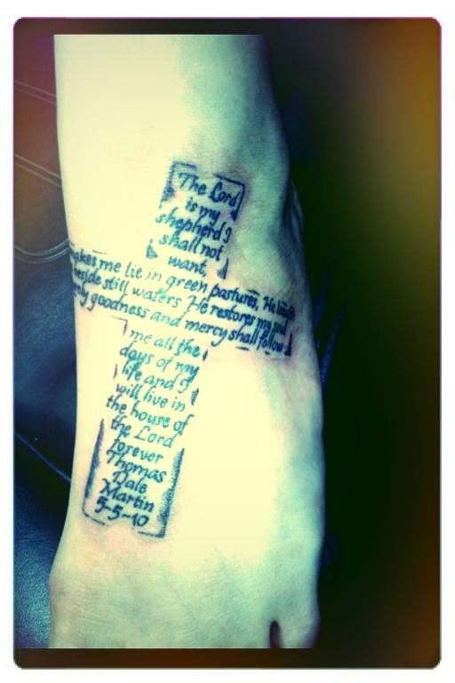 psalm 234 cross tattoo wwwpixsharkcom images