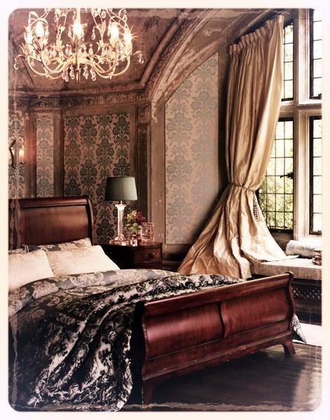 Manderley style bedroom.