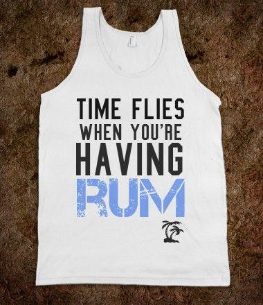 Time flies when you're having rum