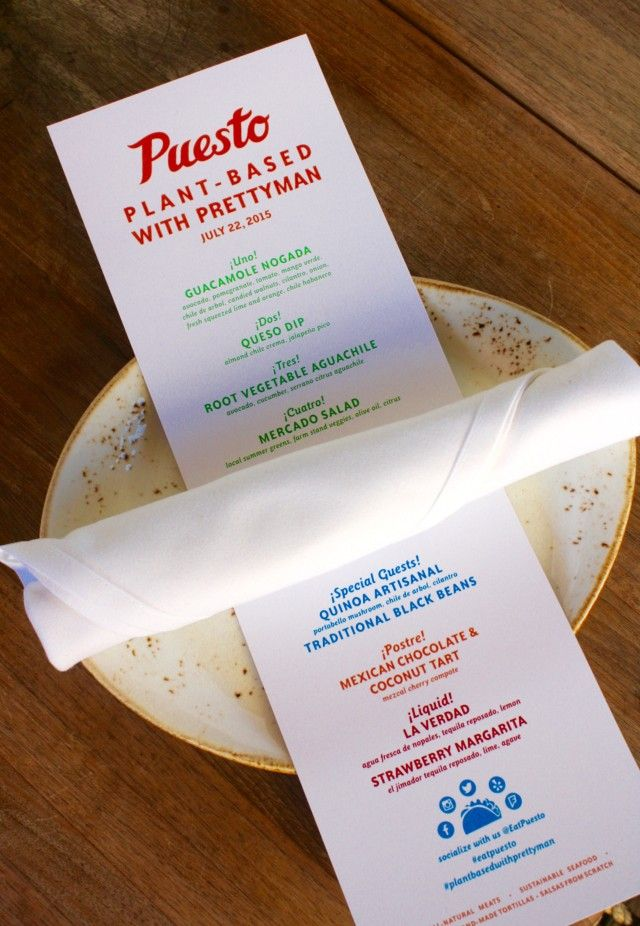 """""""Plant-Based with Prettyman"""" at Puesto!"""
