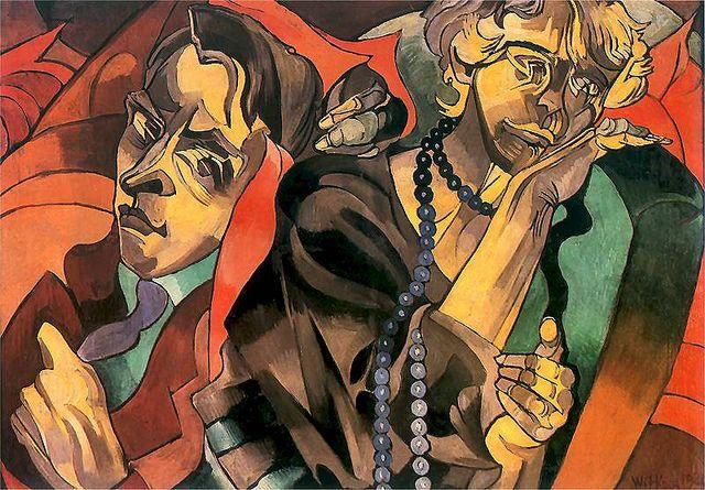 Witkiewicz, Stanislaw Ignacy (1885-1939) - 1920 Two Heads (Museum of Art, Lodz, Poland), via Flickr.