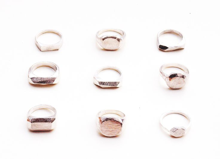 Modern signet rings by kerrie yeung.: Sterling Silver, Jewels, Wedding Rings, Faceted Bar, Kerry Yeung, Accessories, Silver Rings, Signet Rings, Bar Rings