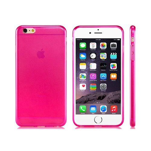 Ultra-Thin Rubber Shell Case Cover (Rose Red) - iPhone 6 Plus. From www.iToys.co.za