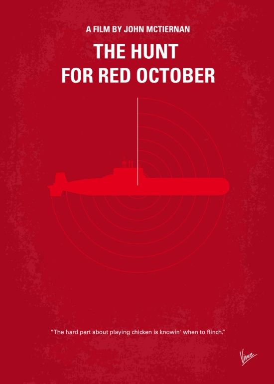 The Hunt for Red October (1990) ~ Minimal Movie Poster by Chungkong #amusementphile