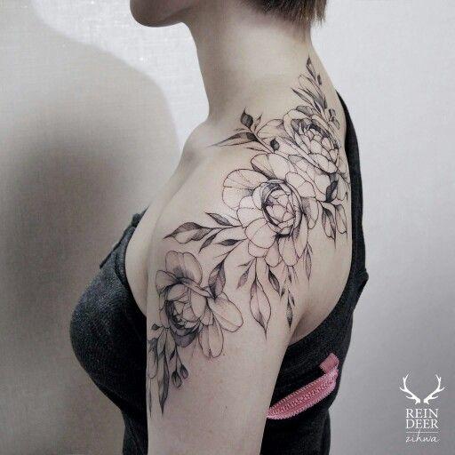Flowers Tattoo Black Arm Tattoo Tattooed Tattoos: Pin By Rachael Elizabeth On Tattoos
