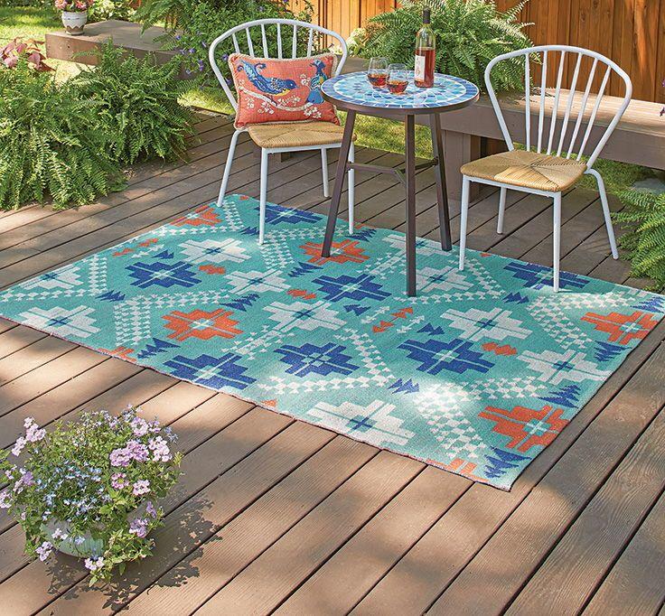 Better Homes And Gardens Teal Crosspath Woven Indoor Outdoor Rug Walmart Com Tropical Outdoor Rugs Outdoor Rugs Patio Indoor Outdoor Rugs