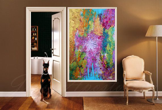 The Original Acrylic Hand-painted Rich Texture #Abstract #Painting ''The beginning'' by Julia Apostolova has been SOLD to Collector from Singapore. https://www.artfinder.com/... #art #painting #print #abstract #watercolor