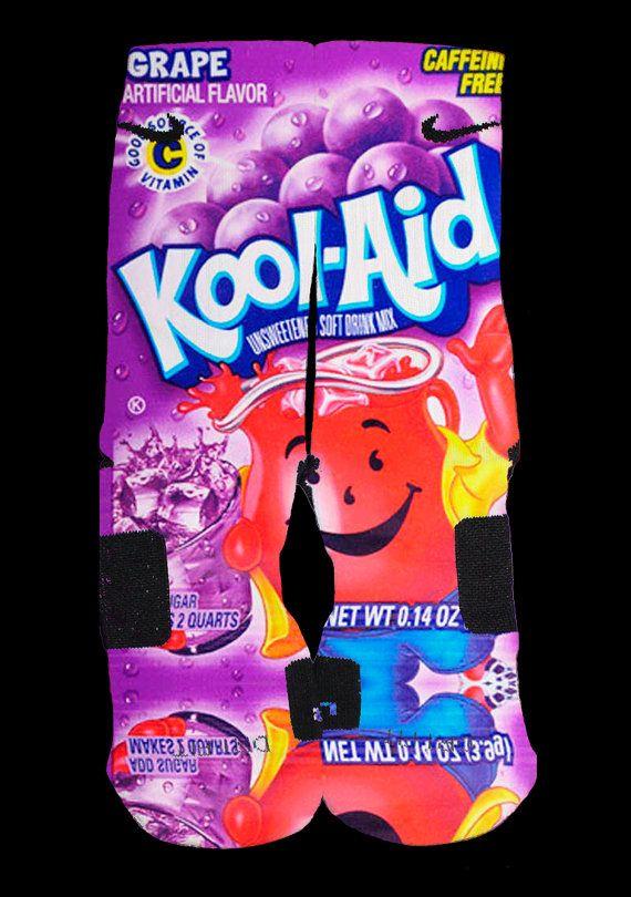 Grape Kool Aid Custom Nike Elite Socks by EliteHeadquarters, $24.99