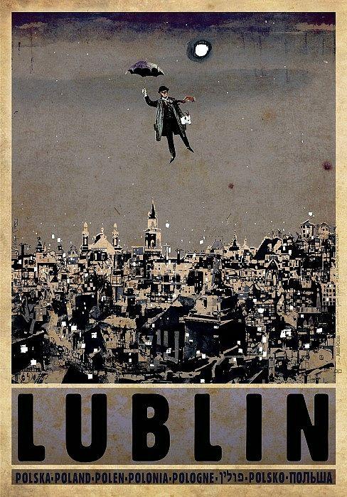 Lublin, polski plakat turystyczny
