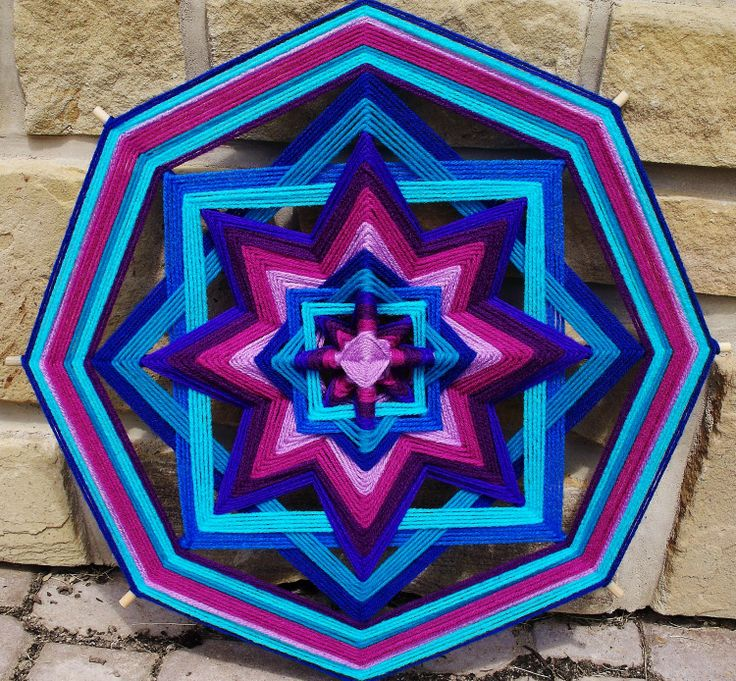 105 Best Images About Mandala Yarn Weaving On Pinterest