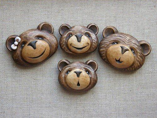 Bráška medvídek usměvavý -  přívěsek na krk
