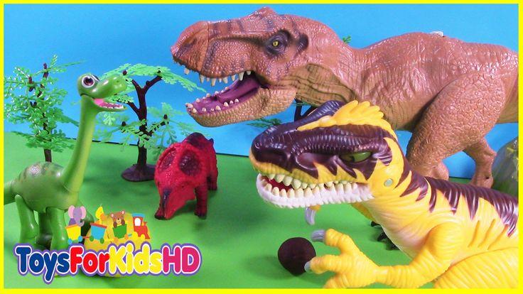 Videos de Dinosaurios para niños El Dinosaurio EgoÍsta - Juguetes de Din...