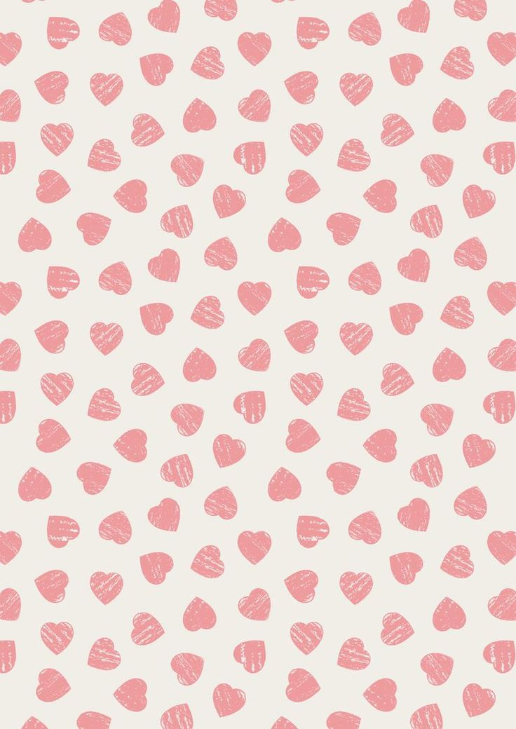 A168.1 - Pink hearts on light cream