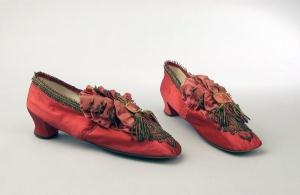 House shoes, 1865-1885, silk, Amsterdam Museum