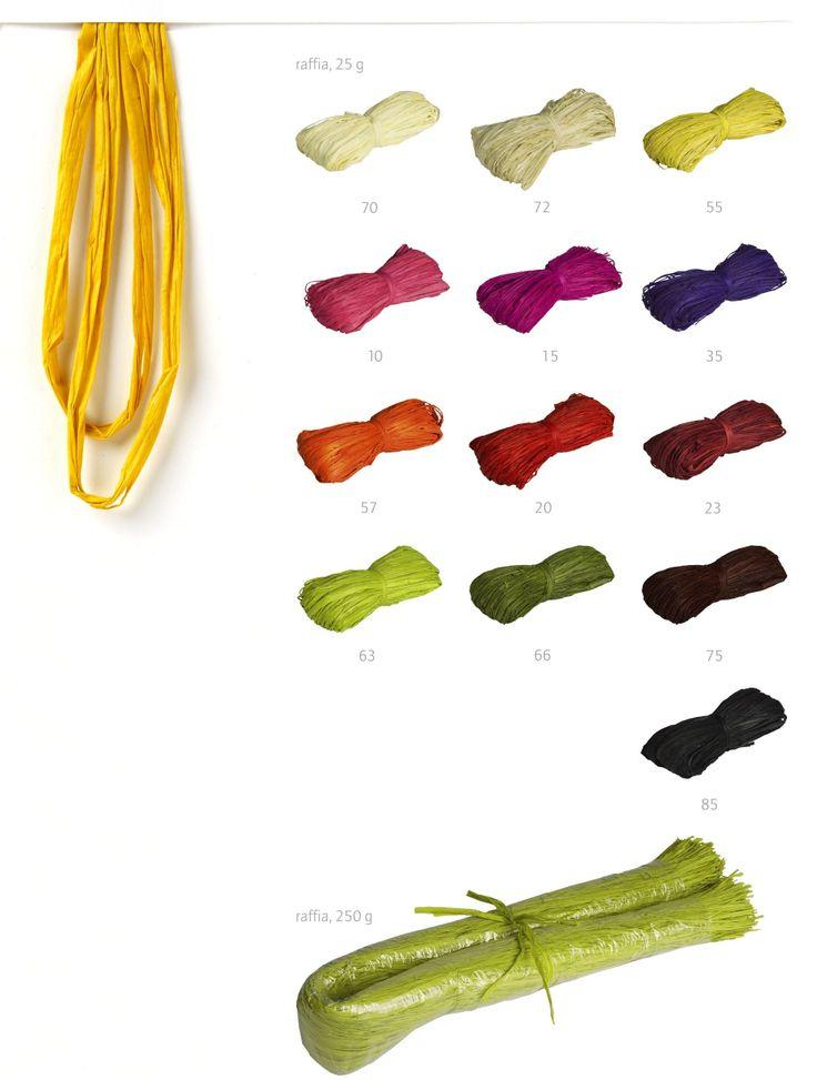 Rafia natural y rafia natural teñida en todos los colores. www.gramajeshop.com