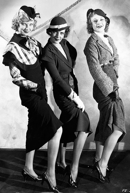 "LOVE THIS.  And in one of my favorite shows?!  Una Merkel, Ruby Keeler, and Ginger Rogers in ""42nd Street"", 1933."