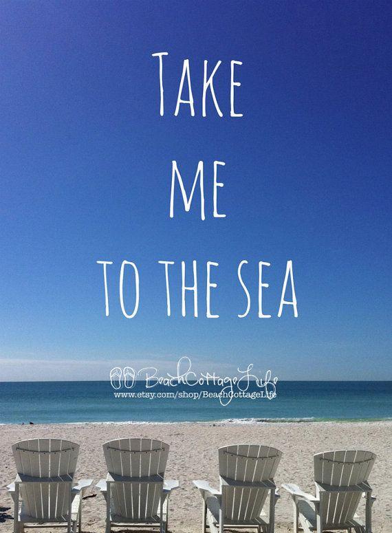 Take me to the Sea Adirondack Beach Chairs by BeachCottageLife