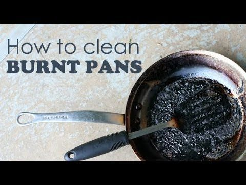 DIY How to Clean Burnt Pan Easily-Useful Kitchen Tip-Easiest Way to Clean a Burnt Pan or Pot - YouTube