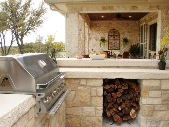 Küchenschränke Materialien für Outdoor Küchen | Aussenküche ...