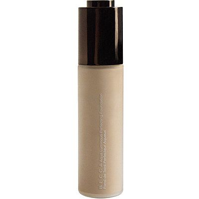 BECCAAqua Luminous Perfecting Foundation. Feels like real skin and gives the perfect part satin, part dewy finish .