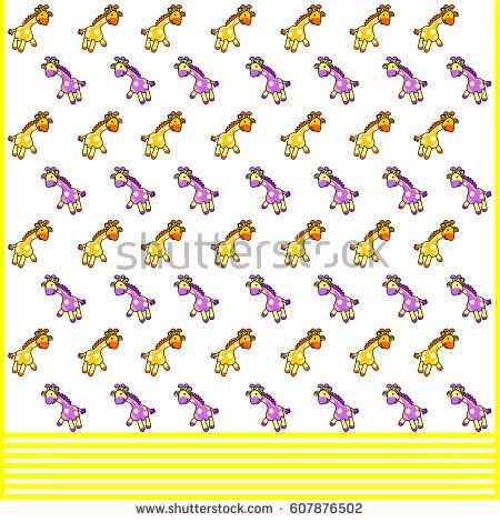 Wrapping paper pattern. Giraffe Illustration for gift wraps and children's background