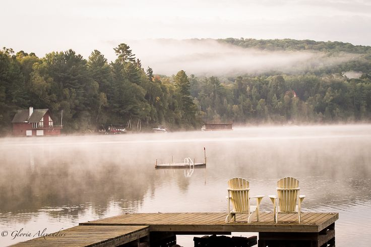 Early Morning Mist by Gloria Alexanders, via 500px At the cottage.   Dorset, Ontario, Canada