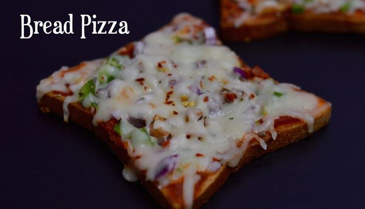 Bread Pizza without Oven|Tawa Bread Pizza|Vegetable Bread Pizza - indian veggie delight