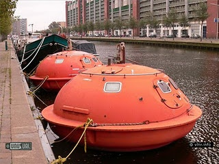 Capsule Hotel, Den Haag (Netherlands)  At this quirky hotel you sleep in a survival pod floating in the canals