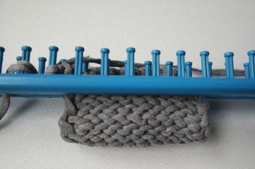 La technique du tricotin géant
