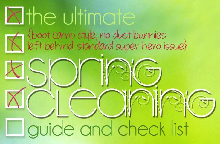 Rob(i)nson: Spring Cleaning!