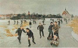 Peter Hansen, Paa Isen bag Byen, [Faaborg], 1901. Statens Museum for Kunst, Denmark