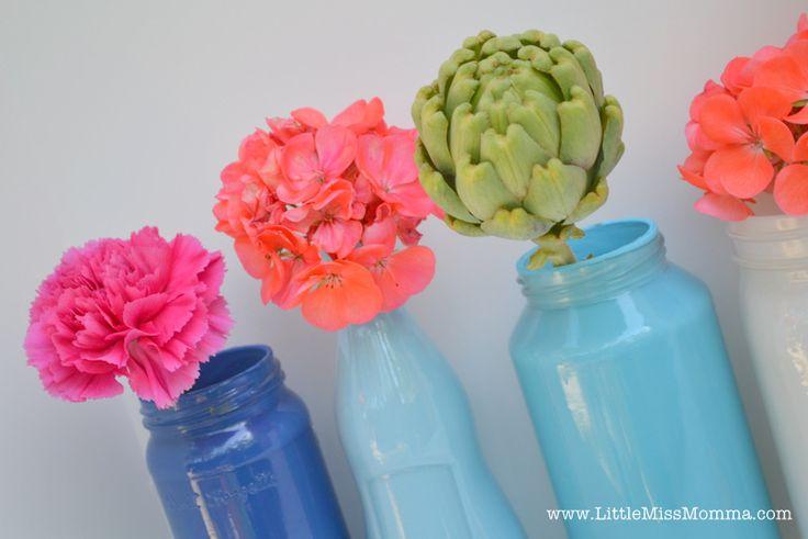 old jars as vases