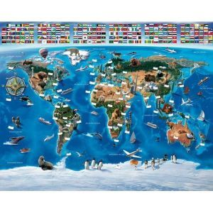 Fototapet Harta Lumii (Map of the World) - fototapet harta lumii, tapet harta lumii, tapet map the world