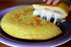 Итальянский картофельный пирог с ветчиной и сыром