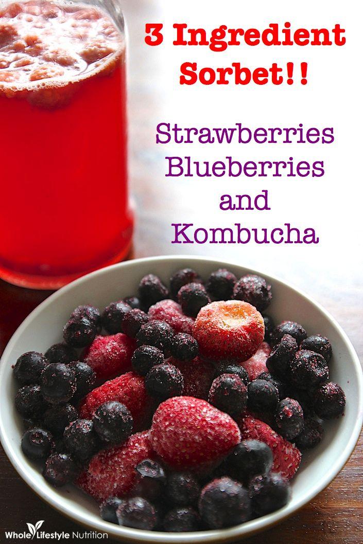 kombucha berry sorbet vitamix recipe | WholeLifestyleNutrition.com.001