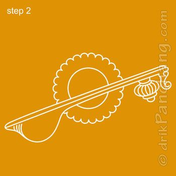Saraswati Rangoli Step 2