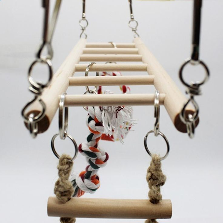 2017 Parrot Climbing Net Hanging Ladder Bridge Macaw Cage Chew Decoration Bird Toys Pet Supplies Parrot Toys New