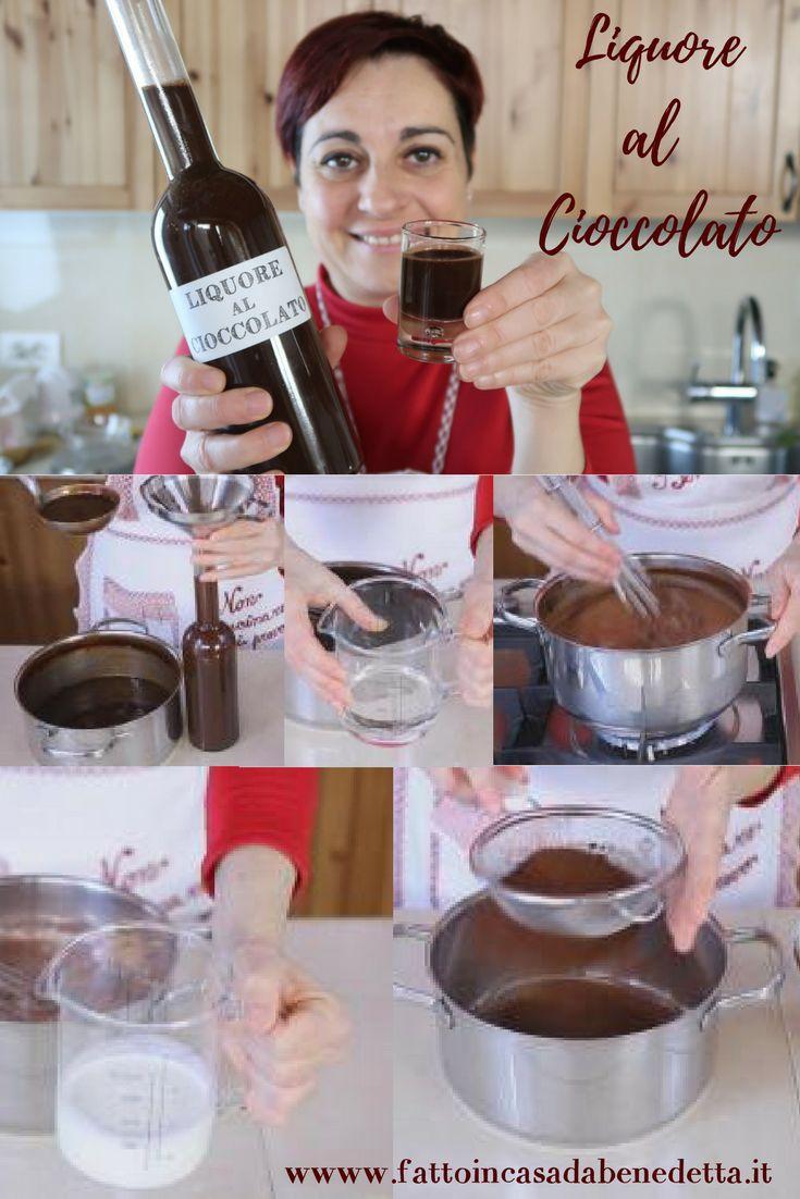Liquore al cioccolato, ricetta facilissima per un liquore goloso perfetto per le feste.