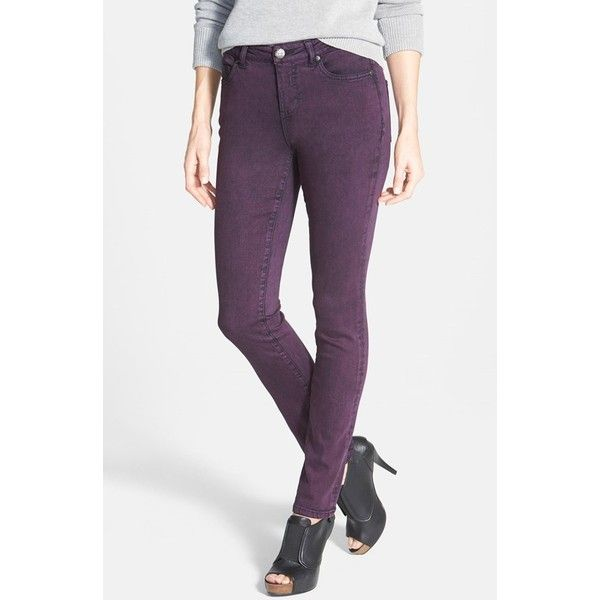 Women's Liverpool Jeans Company 'Abby' Colored Supersoft Stretch... (320 ILS) ❤ liked on Polyvore featuring jeans, skinny fit jeans, slim skinny jeans, stretchy jeans, stretch jeans and slim stretch jeans