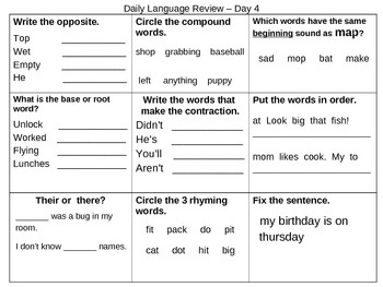 Printables Daily Language Review Worksheets 1000 images about school morning work on pinterest language 10 day daily review packet so much good stuff opposites