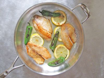 Pan frying fish with out overcooking it is a technique worth mastering. Tilapia is particularly well suited for this method and is a great fish to carry bold flavors like lemon and jalapeno.