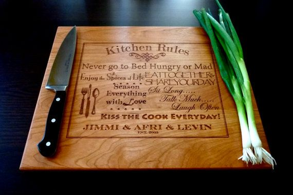 Just ordered off ETSY for a wedding gift!!! Personalized Cutting Board Custom Engraved by TaylorCraftsEngraved, $37.00